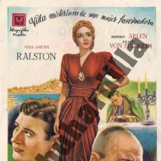 Cine: TORMENTA SOBRE LISBOA - SALÓN IMPERIAL DE ÉCIJA (CA. 1946). Lote 206566056