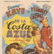 Cine: EN LA COSTA AZUL - TEATRO SANJUÁN DE ÉCIJA (CA. 1952). Lote 206568687