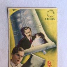 Cine: CARCAGENTE. CINE PATRONATO. FOLLETO DE MANO. EL MILAGRO DE FATIMA (H.1945?). Lote 206569048