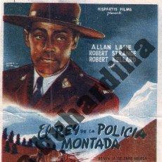 Cine: EL REY DE LA POLICÍA MONTADA - SALÓN IMPERIAL DE ÉCIJA (CA. 1946). Lote 206571951