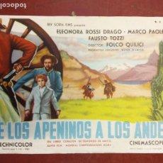 Cine: DE LOS APENINOS A LOS ANDES. ELEONORA ROSSI DRAGO.. Lote 206770737