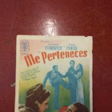 Cine: ME PERTENECES. HENRY FONDA.. Lote 206770811