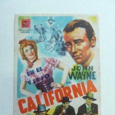 Cine: EN EL VIEJO CALIFORNIA. JOHN WAYNE. SELLO CINE. Lote 206822181