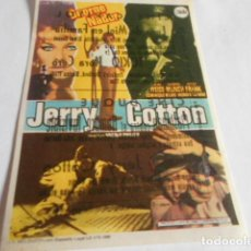 Cine: 19 - FOLLETO DE CINE - CON PUBLICIDAD CINE CAPITOL - JERRY COTTON. Lote 206920817