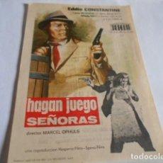 Cine: 19 - FOLLETO DE CINE - CON PUBLICIDAD CINE CAPITOL - HAGAN JUEGO. Lote 206921128