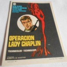 Cine: 19 - FOLLETO DE CINE - CON PUBLICIDAD CINE CAPITOL - LADY CHAPLIN. Lote 206921395