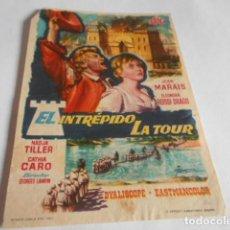 Cine: 19 - FOLLETO DE CINE - CON PUBLICIDAD CINE CAPITOL - INTREPIDO LA TOUR. Lote 206921850