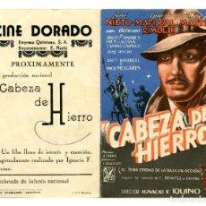 Cine: CABEZA DE HIERRO, CON JOSÉ NIETO.. Lote 206960561