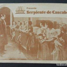 Cine: CIFESA - SERPIENTE DE CASCABEL - PUBLICIDAD CINE IDEAL - FOLLETO DE CINE, AÑOS 30... L1215. Lote 206978287