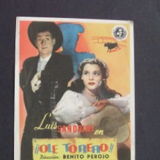 Cine: PROGRAMA DE CINE - OLÉ TORERO - CINE COLISEO CASTILLA (BURGOS). Lote 207068990