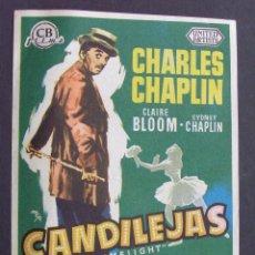 Cine: PROGRAMA DE CINE - CANDILEJAS - CINE CORDON (BURGOS). Lote 207072951