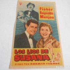 Cine: 24 - FOLLETO DE CINE - CON PUBLICIDA - CINE RIALTO - LOS LIOS DE SUSANA. Lote 207098368