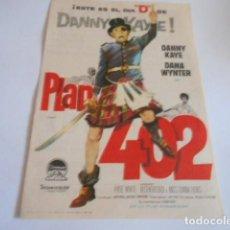 Cine: 24 - FOLLETO DE CINE - CON PUBLICIDA - CINE NACIONAL - PLAN 402. Lote 207099123