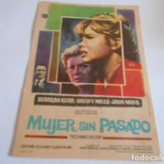 Cine: 24 - FOLLETO DE CINE - CON PUBLICIDA - CINE ARIAS - MUJER SIN PARAISO. Lote 207099142