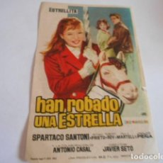Cine: 24 - FOLLETO DE CINE - CON PUBLICIDA - CINE CAPITOL - HAN ROBADO UNA ESTRELLA. Lote 207099328