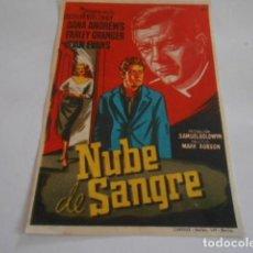Cine: 25 - FOLLETO DE CINE - CON PUBLICIDA - CINE PERELLO - NUBE DE SANGRE. Lote 207099603
