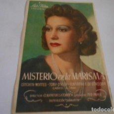 Cine: 25 - FOLLETO DE CINE - CON PUBLICIDA - CINE LLORENS - MISTERIO MARISMA. Lote 207099820