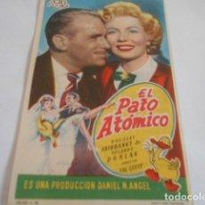 Cine: 25 - FOLLETO DE CINE - CON PUBLICIDA - CINE COCA . - EL PATO ATOMICO. Lote 207100000