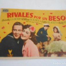Cine: 25 - FOLLETO DE CINE - CON PUBLICIDA - CINE ELISEOS - RIVALES POR UN BESO. Lote 207100300