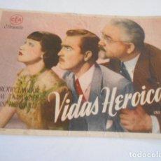 Cine: 25 - FOLLETO DE CINE - CON PUBLICIDA - CINE MODERNO - VIDAS HEROICAS. Lote 207100388