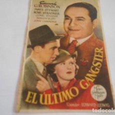 Cine: 25 - FOLLETO DE CINE - CON PUBLICIDA - CINE PRINCIPAL - EL ULTIMO GANGSTER. Lote 207100948