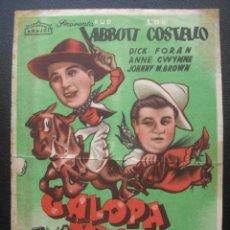 Cine: GALOPA MUCHACHO, ABBOTT Y COSTELLO, ARAJOL, SALA NARBON DE SANTANDER. Lote 207108367