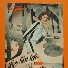 Cine: PROGRAMA CINE EN ALEMAN - HIER BIN ICH, HIER BLEIB ICH ( CATERINA VALENTE ) - AÑO 1959... L1224. Lote 207120106
