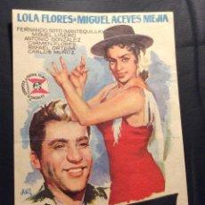 Cine: FOLLETO DE MANO ECHAME LA CULPA. LOLA FLORES. SIN PUBLICIDAD. Lote 207123832