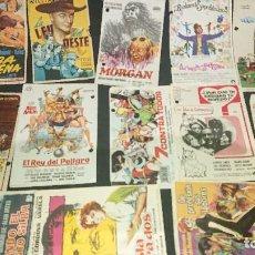 Cine: LOTE DE 75 PROGRAMA DE CINE VARIADOS SIN PUBLICIDAD , IMPORTANTE . LEER DESCRIPCION. Lote 207127353