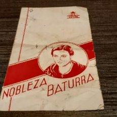 Cine: ANTIGUO PROGRAMA DE CINE MUY RARO NOBLEZA BATURRA. Lote 207195822