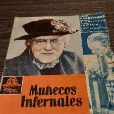Cine: ANTIGUO PROGRAMA DE CINE MUÑECOS INFERNALES. Lote 207196581