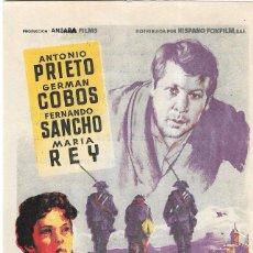 Cine: PN - PROGRAMA DE CINE - CUERDA DE PRESOS - ANTONIO PRIETO, GERMAN COBOS - PRINCIPAL CINEMA (MÁLAGA). Lote 207255000