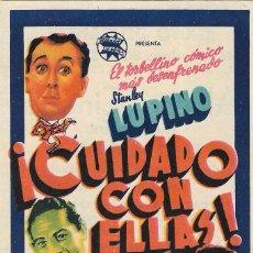 Cine: PN - PROGRAMA DE CINE - ¡CUIDADO CON ELLAS! - STANLEY LUPINO, MAX BAER - ALIATAR CINEMA (GRANADA). Lote 207255913