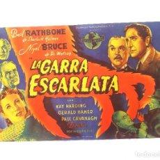 Cine: LA GARRA ESCARLATA SENCILLO GRANDE DE UNIVERSAL TEATRO CINE EUTERPE. Lote 207270960