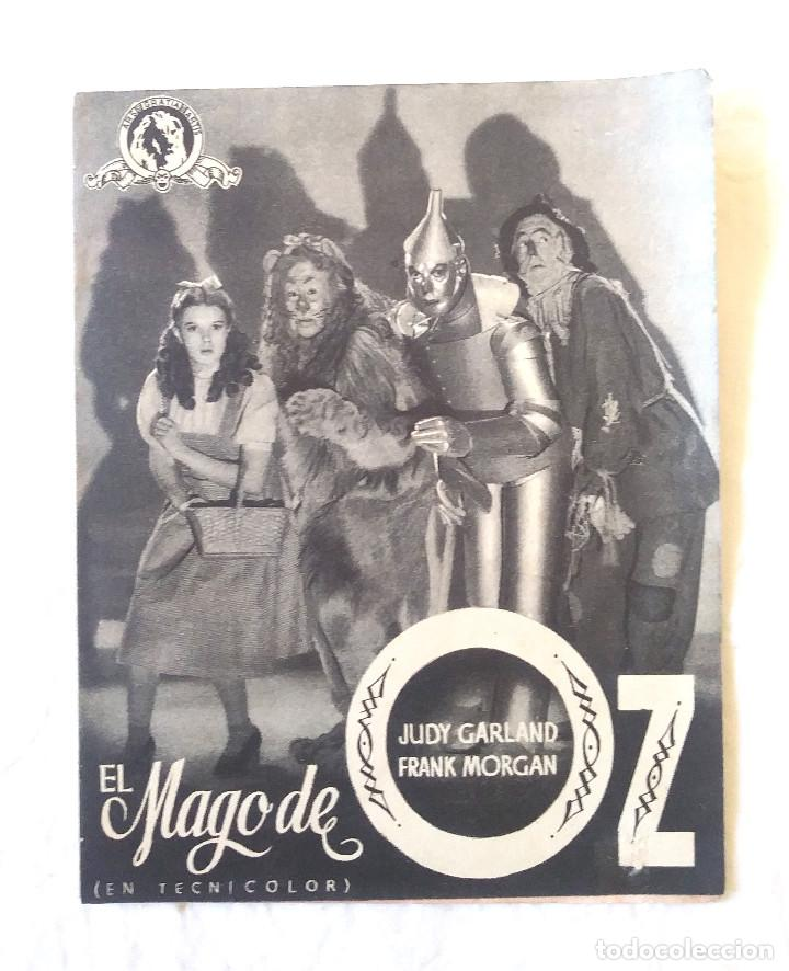 EL MAGO DE OZ AÑO 1945 PROGRAMA DOBLE. TEATRO TIVOLI (Cine - Folletos de Mano - Infantil)