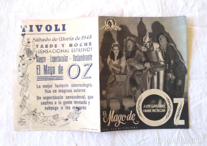 Cine: El Mago de Oz año 1945 Programa Doble. Teatro Tivoli - Foto 3 - 207279238
