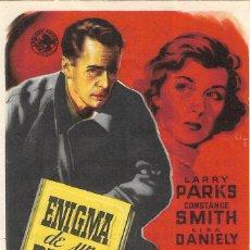 Cine: PN - PROGRAMA DE CINE - ENIGMA DE UN DIARIO - LARRY PARKS, CONSTANCE SMITH - CINE ALKAZAR (MÁLAGA). Lote 207280611
