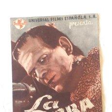 Cine: LA SOMBRA DE FRANKESTEIN AÑO 1944 BORIS KARLOFF PROGRAMA DOBLE. CINE MONTESQUIU.. Lote 207280818