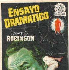 Cine: PN - PROGRAMA DE CINE - ENSAYO DRAMÁTICO - EDWARD G. ROBINSON - PLAZA DE TOROS (MÁLAGA) - 1956.. Lote 207281883