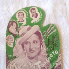 Cine: MARIQUILLA TERREMOTO AÑO 1939 PROGRAMA TROQUELADO. ESTRELLITA CASTRO Y ANTONIO VICO. Lote 207283570