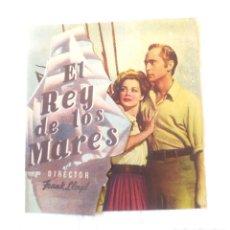 Cine: EL REY DE LOS MARES AÑO 1944 PROGRAMA DOBLE TROQUELADO TEATRO CINE VICH. Lote 207284667