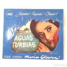 Cine: AGUAS TURBIAS AÑO 1946 PROGRAMA DOBLE TROQUELADO MERLE OBERON CINE CANIGO VICH. Lote 207285971