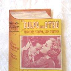 Cine: LA CULPA DEL OTRO AÑO 1943 CIFESA PROGRAMA TROQUELADO CENTRAL CINEMA LAS ARENAS. Lote 207286448