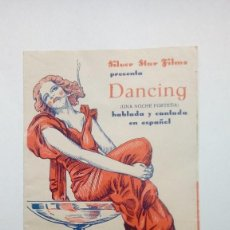 Cine: FOLLETO DE CINE DANCING UNA NOCHE PORTEÑA SILVER STAR FILMS PRESENTA FOLLETO DOBLE. Lote 207297952