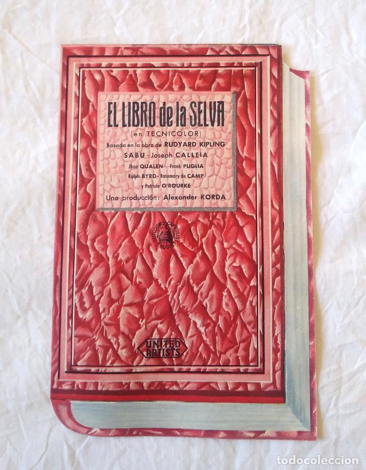 EL LIBRO DE LA SELVA AÑO 1945 PROGRAMA DOBLE TROQUELADO TEATRO CINE CANIGÓ VICH (Cine - Folletos de Mano - Infantil)