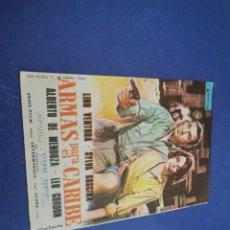 Cine: PROGRAMA DE MANO ORIG - ARMAS PARA EL CARIBE - CINE DE VILLENA 1967. Lote 207538793