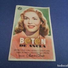 Cine: PROGRAMA DE MANO ORIG - BOTÓN DE ANCLA - CINE DE ALBACETE 1949. Lote 207541406