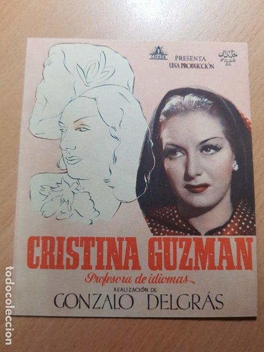 ANTIGUO PROGRAMA DE CINE CRISTINA GUZMAN PROFESORA DE IDIOMAS MURCIA JUCA FILMS (Cine - Folletos de Mano - Clásico Español)