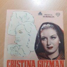 Cine: ANTIGUO PROGRAMA DE CINE CRISTINA GUZMAN PROFESORA DE IDIOMAS MURCIA JUCA FILMS. Lote 207632051