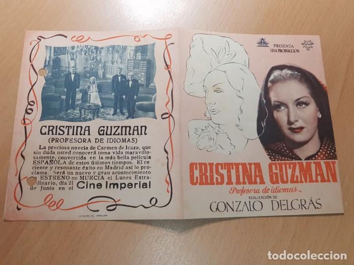 Cine: ANTIGUO PROGRAMA DE CINE CRISTINA GUZMAN PROFESORA DE IDIOMAS MURCIA JUCA FILMS - Foto 2 - 207632051